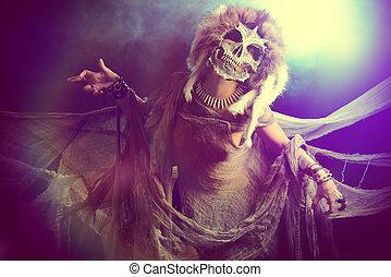 frightening female