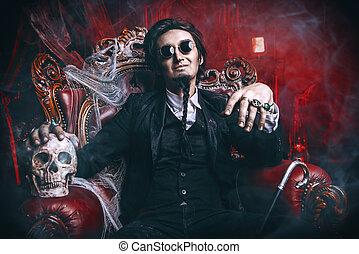 frightening vampire man