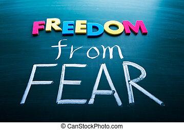 frihed, af, befrygte
