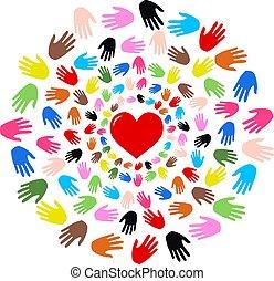 frihet, fred, vänskap, kärlek