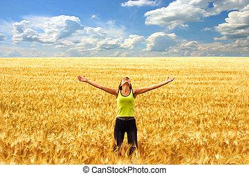 frihet, och, lycka