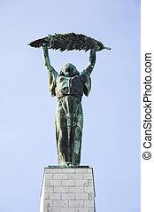 frihets staty, gellert, kulle, budapest, -, ungern