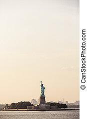 frihets staty, in, new york