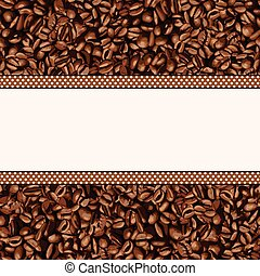 frijol, café, plano de fondo
