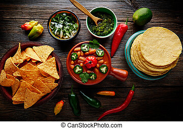 Frijoles charros mexican beans with chili peppers - Frijoles...
