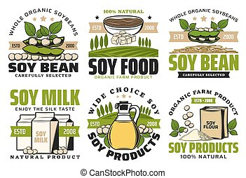 frijoles, feta, harina, miso, aceite, soja, pastas, leche
