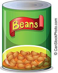frijoles, lata