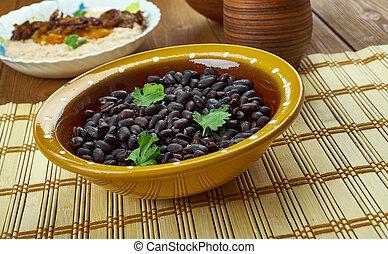 Frijoles negros, cuban cuisine,popular dish in Latin America...