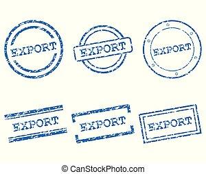 frimärken, exportera
