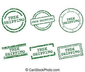 frimärken, gratis, skeppning
