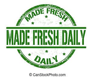 frimærke, frisk, lavede, daglige