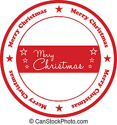 frimærke, jul, merry
