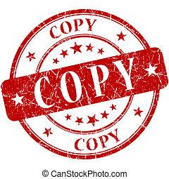 frimærke, kopi, rød