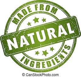 frimærke, naturlig