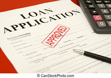 frimærke, trykt, på, den, anerkendt, lån, ansøgning,...