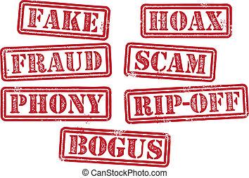 frimærker, bedrageri, scam, eftergøre
