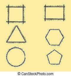 Fringed Geometric Frames