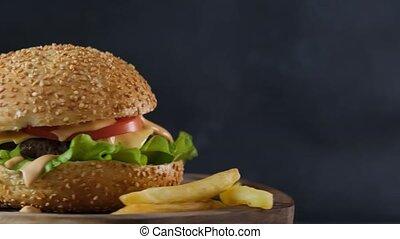 frire, francais, hamburger