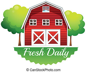 fris, barnhouse, alledaags, etiket
