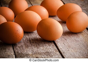 fris, boerderij, eitjes