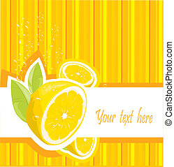 fris, citroen, menu