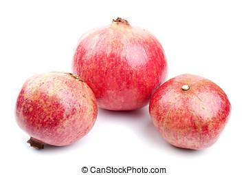 fris, granaatappel, drie