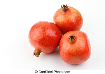 fris, granaatappel, volle, drie