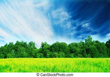 fris, groen landschap, lente