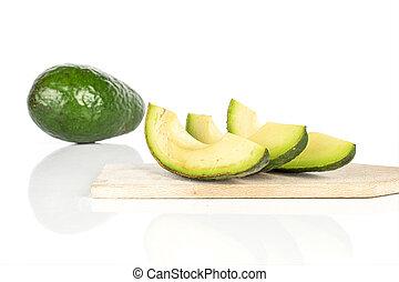 fris, groen wit, vrijstaand, avocado