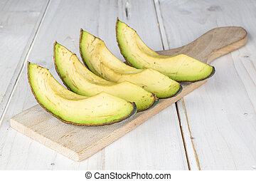 fris, groene, grijze , avocado, hout