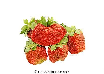 fris, organisch, aardbeien