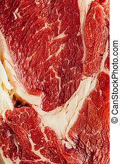 fris, rauw vlees, textuur, closeup, aanzicht