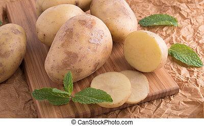fris, smakelijk, aardappels