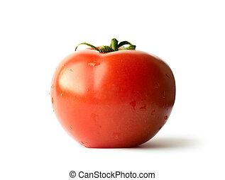 fris, tomaat, vrijstaand, op wit, achtergrond