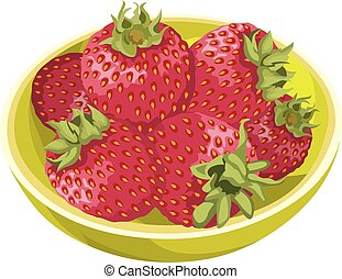 fris, vector, strawberries.