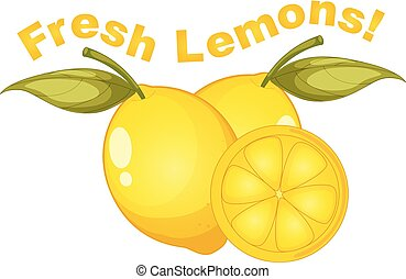 fris, witte , citroenen, achtergrond