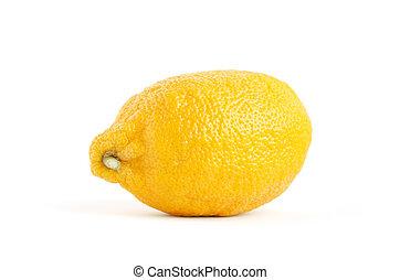 fris, witte , vrijstaand, citroenen