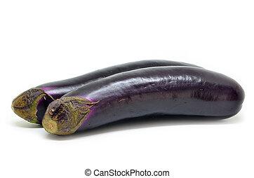 frisch, aubergine, roh
