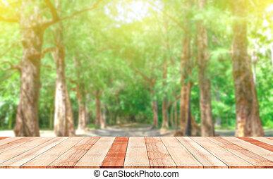 frisch, baum, grün, natur, unscharfer hintergrund