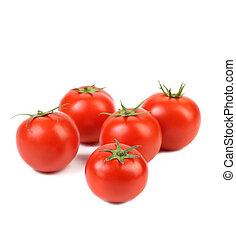 frisch, blätter, grün, tomaten