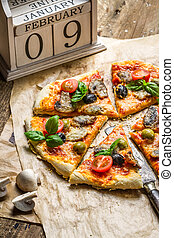frisch, gebacken, selbstgemacht, pizza