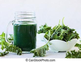frisch, grün, smoothie