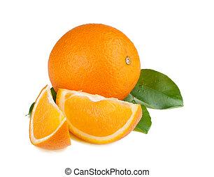 frisch, saftig, orangen
