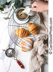 frisches gebacken, croissant
