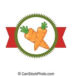frisches gemüse, produkt, siegel