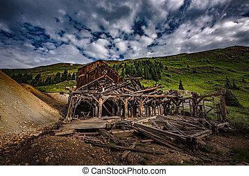 Frisco Mill and Bagley Tunnel Colorado Mountains San Juan...