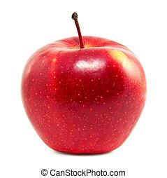 frisk, äpple, röd