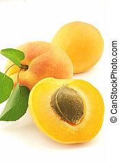 frisk, aprikos