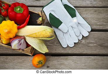 frisk, bönder marknadsför, frukter och vegetables