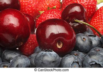 frisk, berries